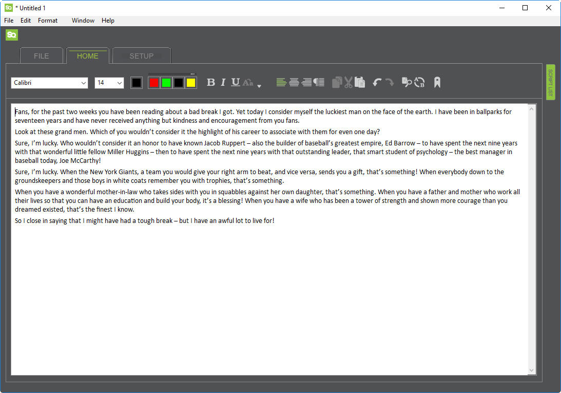 Script Q 5 0 3 Mac & PC Prompter Software